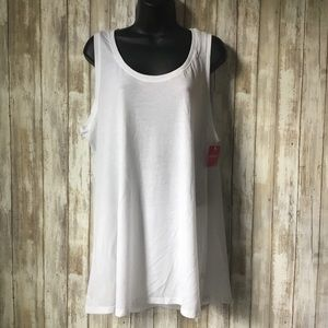 Spanx Perfect Length Tank Top White X-Large NWT